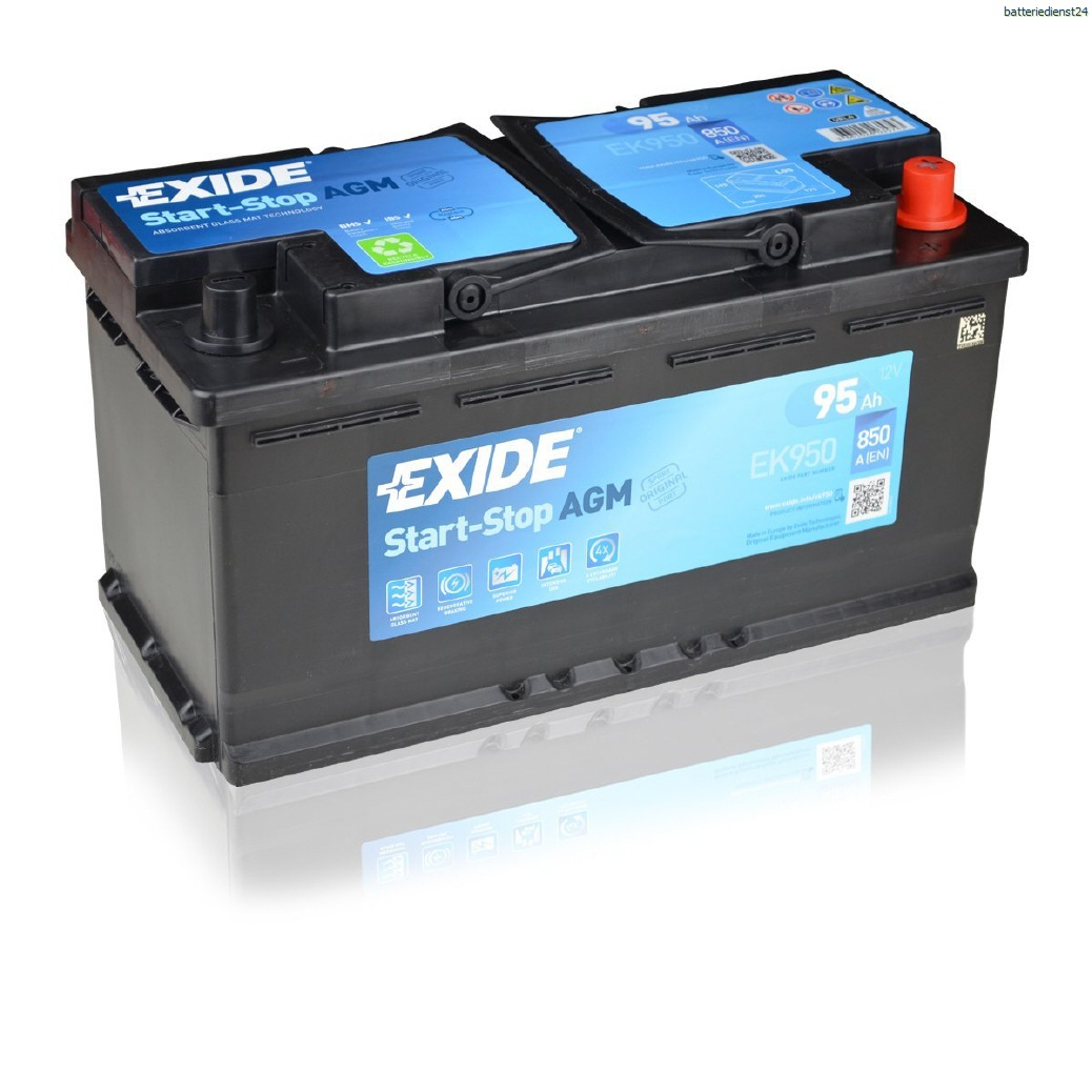 Exide AGM Batterien Start - Stopp Batterien